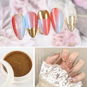 Nail Mirror Glitter Powder Metallic Color Nail Art UV Gel Polishing Chrome Flakes Pigment Dust DIY Decorations Manicure I051
