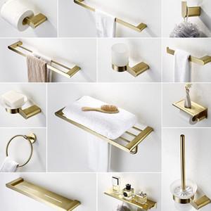 Bürste Edelstahl-Set Gold-Robe Hardware WC-Halter Zubehör 304 Gold-Badezimmer Brushed Towle Papier Bar Badezimmer Haken Dttto