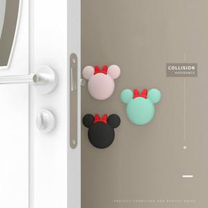 3 أجزاء الكرتون مقبض الباب سيليكون ملصقات المضادة للتصادم سميكة جدار الباب كتم تحطم وسادة امتصاص الصدمات الحمام وسادة