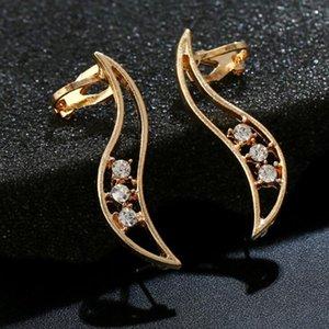 Livraison gratuite Mixed 20pcs alliage personnalité femmes diamants cristal Boucles d'oreilles clips oreille broches d'oreille Dance Party Lolita Punk Skull Bijoux 83