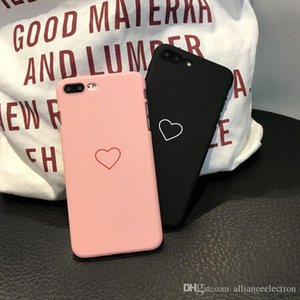 Fashion Simple Love Case Ultrathin Frosted Soft TPU Case Fashion Cute Back Cover Cases For iPhone X 8 7 6 6S Plus 5 5S SE