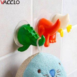 Banyo Mutfak Emiş Kupası Hayvan Kuyruk Şekli Anahtar Giyim Tutucu Askı Organizatör İçin Vacclo Dekoratif Kancalar Depolama Kanca