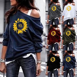 Imprimé dames chandail sans bretelles sexy tops commerce extérieur Sweat-shirts Vêtements pour femmes pas cher Chine en gros européens et américains
