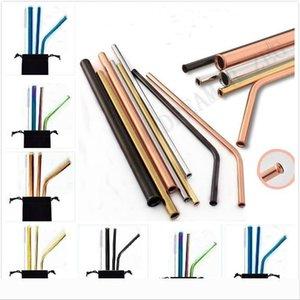 Designer 8.5 pouces Scratch Proof Straws métal réutilisable Paille pour boire Anti Scratch paille Accueil Party Barware Bar Ac