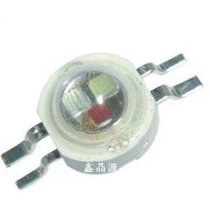3W RGB LED는 고출력 LED 램프 히트 싱크 용접 칩 RGB 식스 / 개의 다리 350mA 3.2-3.4V 칩 비드