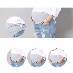2020 Jeans for Maternity women Comfortable Blue Cotton Spring Elastic Waist Denim Daily pregnant pants Women clothes