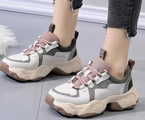 Güzel raporu çıkış kauçuk basit ayakkabı rahat serin bas mahkeme güzel Ağır rahat ayakkabılar kız bayan Baba Kadın koşu ayakkabıları tabana vurma