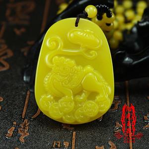 Ücretsiz kargo Huang Longyu Qilin yeşim marka Qilin yarasa para dize Lingzhi arzulu kolye kolye