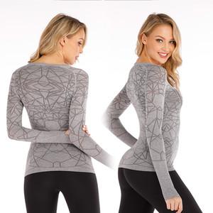 lu 016 Yoga Serve T Shirt Woman Spider Long Sleeve Major Bodybuilding Serve Self-cultivation Ventilation Split Joint Jacket