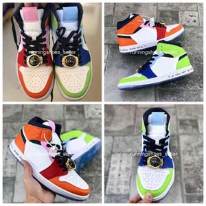 2020 Мелодия Ehsani х 1 Mid WMNS Бесстрашный Женщины Mens баскетбол обувь смотреть Lace Jewel 1S Кроссовки EUR36-45