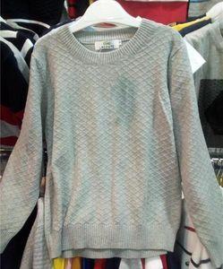 Nueva ropa superior de los niños marca etiqueta algodón suéter del bebé niños de alta calidad prendas de vestir exteriores suéter de la muchacha y niño suéteres