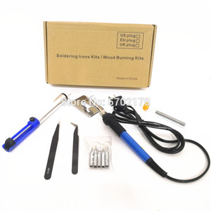 220 В 60 Вт электрический паяльник регулируемая температура паяльник сварочный переделка ремонт инструмент с 5 шт. припой наконечник