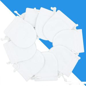 Blanco de terciopelo joyería encantos del bolso bolsas para Pandora collar colgante para mujer de la pulsera de plata de ley de empaquetado del regalo bolsas