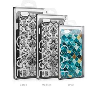 Moda Blister PVC Plastik Siyah Şeffaf Perakende Ambalaj Kutu iPhone'u 8 7 6 4.7 5.5 Cep Telefonu Kılıf Paketleme