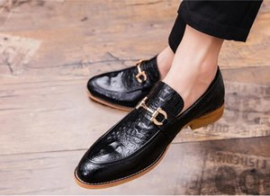Pointed Toe Mens Dress Shoes Genuine Leather Luxury loafers Wedding Shoes Men Flats Office wedding party Formal size 38-46