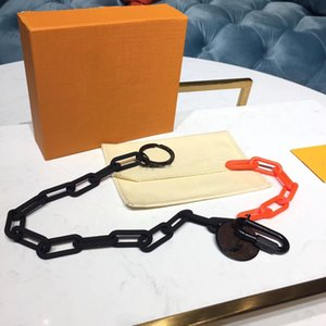 En cuir de haute qualité en alliage chaîne clé conception de la marque chaîne personnalité de la personnalité hommes et femmes voiture clé boîte cadeau emballage