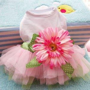 Pet Dog Dress Spring Summer Clothes Cute Sunflower Princess Skirt Wedding Ball Gown Party Dress Pet Supplies