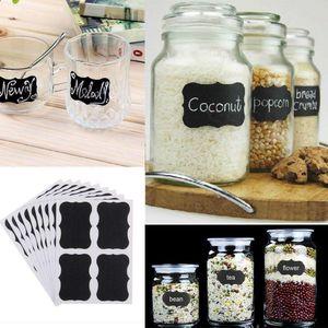 36pcs / set Etichette Lavagna Sticker Craft Kitchen Jars Organizzatore lavagna Scheda di gesso bordo adesivo Black Label CCA11600-A 150set