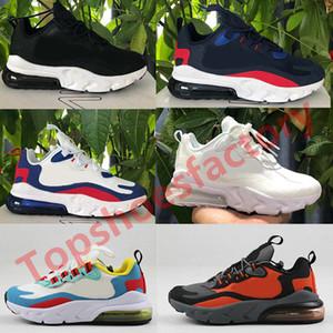 Nike air max 270 react Kid shoes airmax 270  del ragazzo dei pattini correnti Hyper Bright Pink Violet bambino bambini delle scarpe da tennis Taglia 28-35