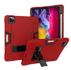 Für iPad PRO 11inch 2020 Wasserdichte Heavy Duty Shockproof doppelte Farben-Silikon-Schlag Rüstung Tablet PC-Gehäuse