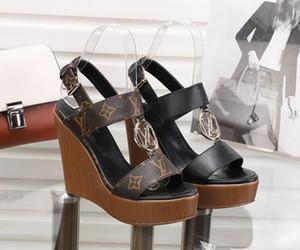 neueste fashion78 Damenschuhe High Heels Sandalen Slipper aus echtem Leder High Heels Schuhe Partei Bankett Hochzeit Schuhe Pantoffel Plateausandalen