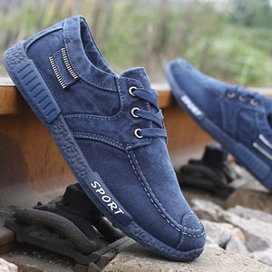 Canvas Men Shoes Denim Lace-Up Men Casual Shoes New Plimsolls Breathable Male Footwear Spring Autumn footwear