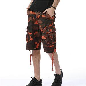 Dhgate carga Shorts Mens Verão calças cortadas com grandes bolsos Casual Macacões Joggers Moda ativos Roupa Nova