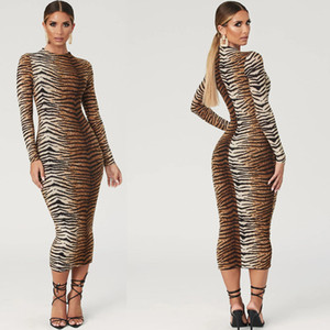 Fashion Leopard Print Dresses Night Club Dresses Sexy long dress