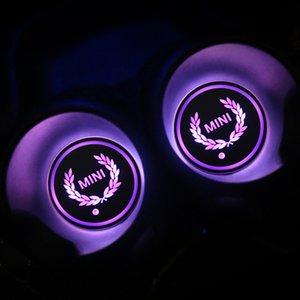 Кубок 1шт Авто LED Mat Коврик против скольжения Подстаканники интерьера Декор для Mini Cooper One S JCW R55 R56 R60 R61 F54 F55 F60 Аксессуары