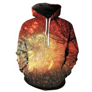 Feux d'artifice Étoile Imprimé Chapeau de poche Mettez hoodies Garde de Tidal Chapeau Vêtements pour hommes Chemisier