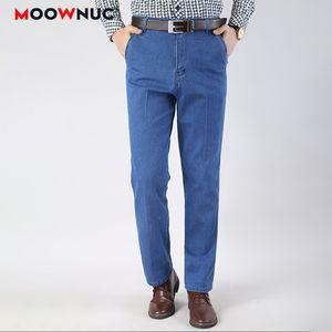 Men's Jeans For Men Plus Size Casual Fashion Full-length Pants 2021 Autumn Winter Fit Elastic Sweatpants Denim Male MOOWNUC Brand