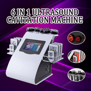 Lowest 2colors 6in1 40k Ultrasonic liposuction Cavitation 8 Pads LLLT lipo Laser Slimming Machine Vacuum RF Skin Care Salon Spa Equipment