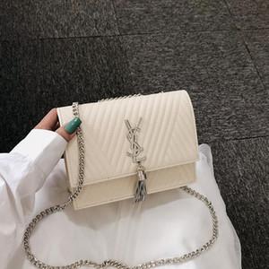 Mulheres Luxury Designer Bag Bolsas Fada portátil cadeia de borla saco de moda pequena cruz-corpo de saco quadrado Contratado vento Temperamento