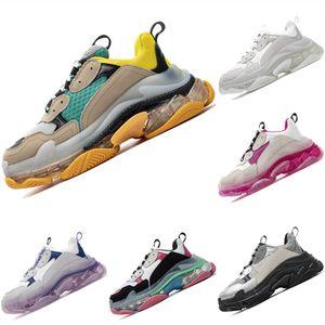 2020 Triple ler Deri Mesh Nefes Erkek ve Bayan Sneaker Triple s Kristal Hava Yastık Koşu Spor Ayakkabıları