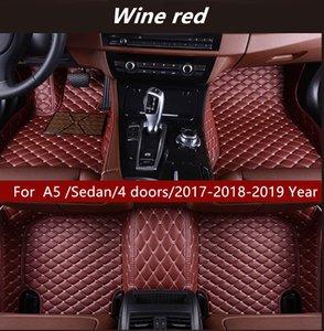 For Audi A5  Sedan 4 doors 2017-2018-2019 Year Car Interior Foot Mat Non-slip Environmental Protection Tasteless Non-toxic Floor Mat