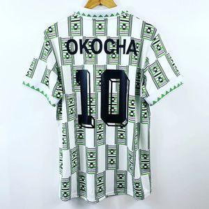 Retro Nijerya 1994 Deplasman Futbol Formalar Kanu Okocha Findi Futbol Takımı Vintage Futbol Camiseta Klasik Gömlek