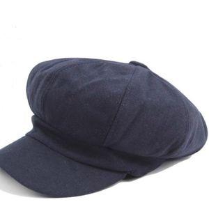 Women Beret Autumn Winter Octagonal Cap Hats Stylish Artist Painter Newsboy Caps Black Grey Beret Hats