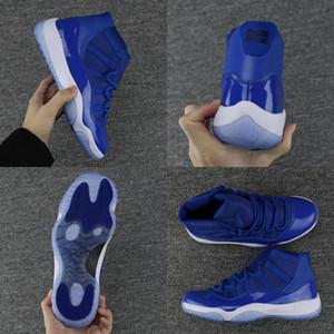 Bonne Qualité 11S 11 Numéro Noir Blue Blue Mens de basket Basketball Midnight Navy Chicago Gym Rouge Prm Heirress Man Sports Sports Taille 36-47