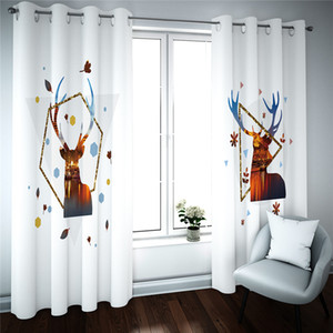 3D Photo Blackout Curtains Custom 3D Curtain Simple animal Cortinas Drapes 3D Living Room Bedroom Curtain
