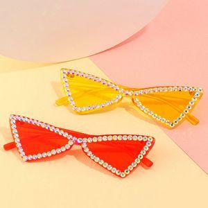 fashion Crystal diamond Ne street shot sunglass KEHU Lady Retro Sunglasses Round Bicolor Ophthalmic Lens Design Alloy Glasses Frame 6gFSO