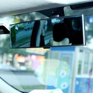 Auto interno 300 millimetri un'ampia curva Clip On Specchietto retrovisore W / Anti-Glare tinta blu di vetro
