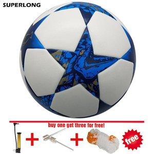 superlong 2018 size 5 Football ball Material PU durable soccer ball Professional Match Training futbol free inflator