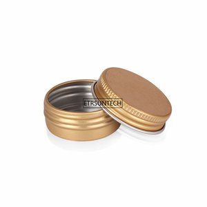 Gold 15g 25g 60g Top Quality Cream Refillable Metal Aluminum Jar Tin Screw Cosmtic Lip Mask Contains