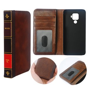 Flip Leather cell Phone Case Cover for Huawei Nova 5i Pro Wallet Retro Business Pouch