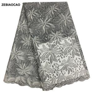 Telas africanas del cordón Francés de Alta Calidad de lentejuelas nupciales de encaje de tul nigeriana tela de encaje Para el partido Dress.5yards / lot envío gratis
