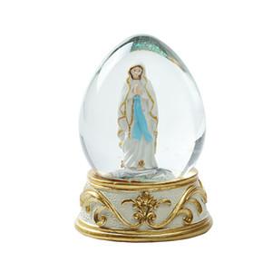 Virgin Mary Estátua Snowflower Crystal Ball presentes românticos do Catholic Family Rapazes Raparigas Batismo aniversário Religião Relic melhor presente para Churchman
