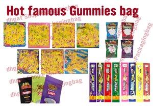 Горячая продажа 500мг Gummies мешок 400mg ющего медикаментозного 420 мг ботаников веревочные Dank Gummies LOL Edibles хэштегом Пустая упаковка мешок полудурков веревочные Липкие сумки