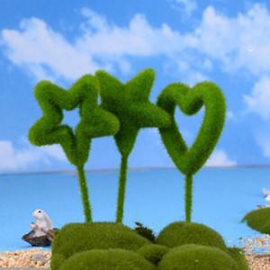 Corazón nueva estrella creativa en forma de adornos Planta artificial de la manera fresca Moss bolas verdes artificial precioso partido Decoración Moss