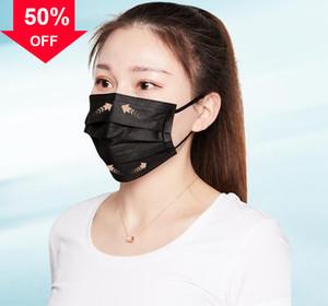 EwbTc K Disposable Dustproof masks Layers Maschera Mascherine 3 Anti dust Face Mask mouth Protective Maske designe facemask