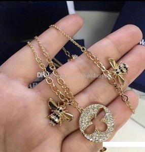 Élégant et abeille diamant micro-incrustées douce délicate resplendit version japonaise et coréenne du bracelet simple collier bijoux sauvages femal